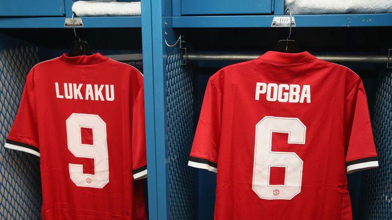 Romelu Lukaku Paul Pogba shirts