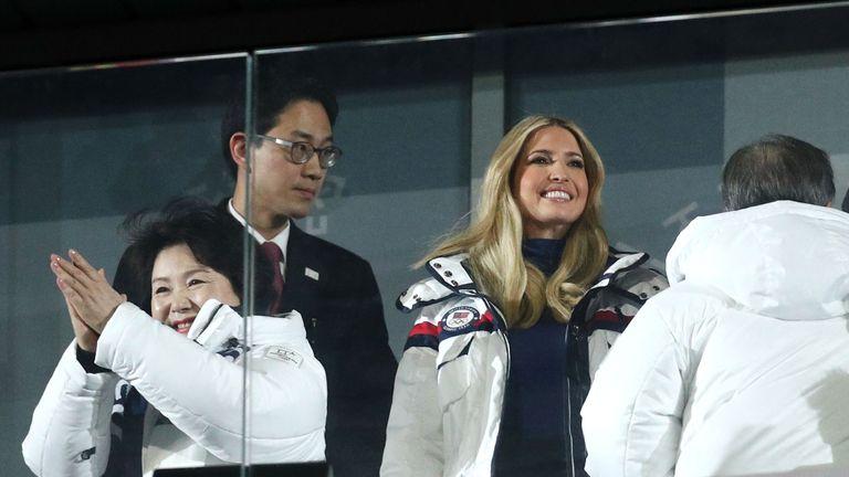 Ivanka Trump at the closing ceremony in South Korea