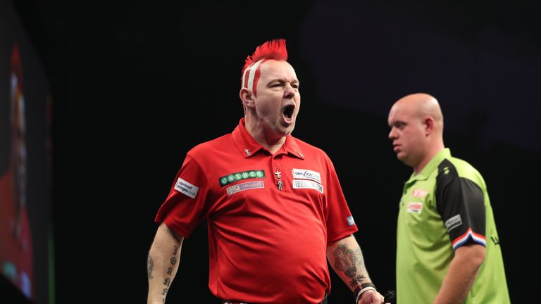 Peter Wright defeated Van Gerwen in Cardiff last week