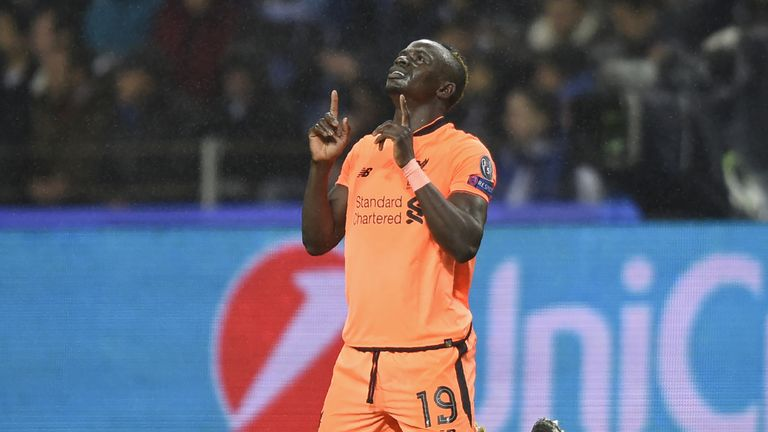 Sadio Mane scored a hat-trick against Porto in Portugal