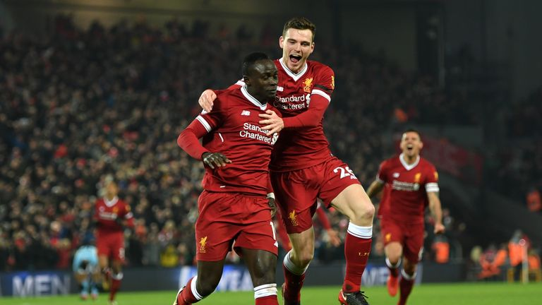 Andy Robertson was full of praise for hat-trick hero Sadio Mane following Liverpool's 5-0 win in the Champions League against Porto