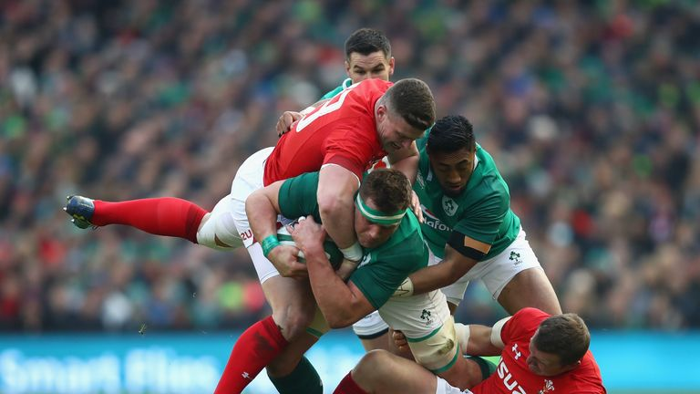 Another strong carry from Ireland's  CJ Stander