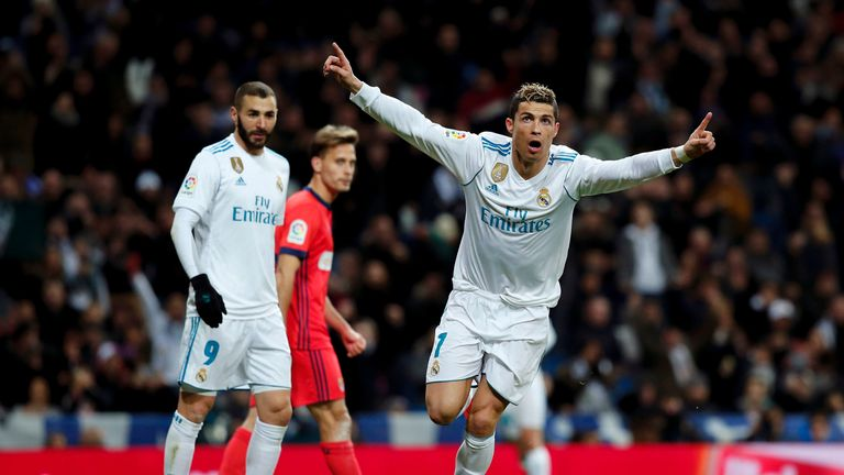 Cristiano Ronaldo scored a hat-trick against Sociedad on Saturday