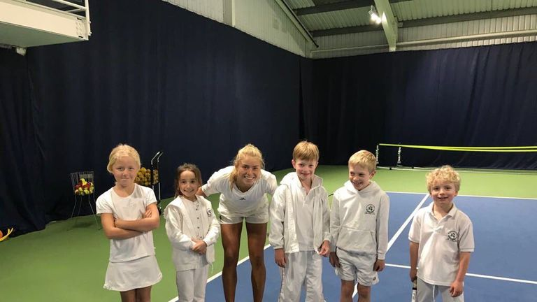 Emily loves teaching the young stars at her local club in Weybridge