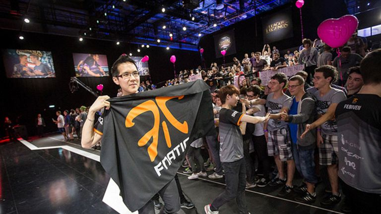 Yellowstar proudly holding the flag of his team after a triumphant victory back in 2015  (credit: Riot Games)