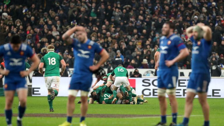 Sexton's highly dramatic drop goal three minutes into dead time secured victory in Paris in week one