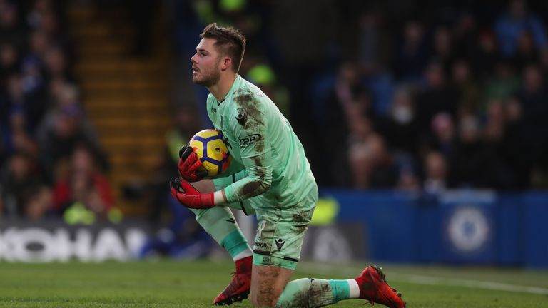 Jack Butland helped Stoke to a point at Southampton