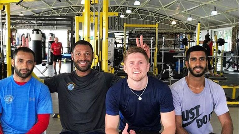 Jason Quigley has recently trained alongside Kell Brook in Fuerteventura (picture courtesy of Jason Quigley's official Twitter account)