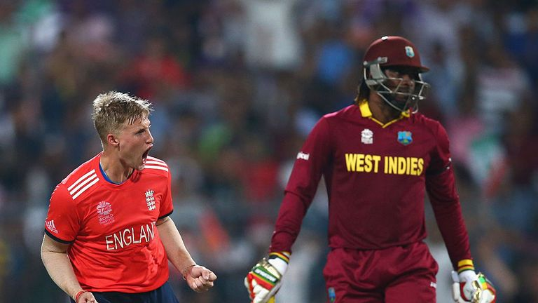 Joe Root took two wickets in his only over in the World T20 final