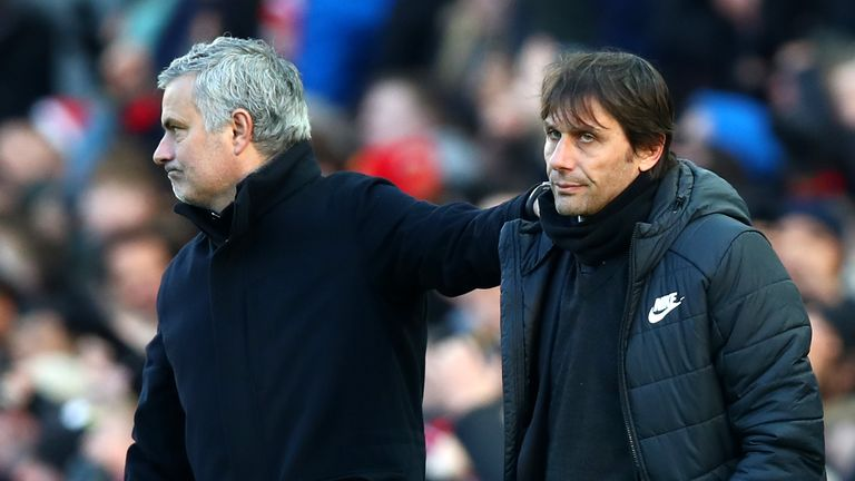 Jose Mourinho consoled Antonio Conte after Man Utd beat Chelsea - and the Blues face a tough test to make the top four