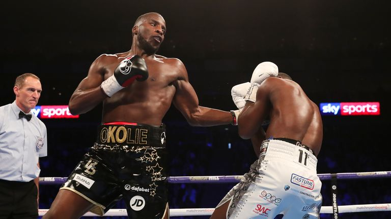 Okolie completed a wide points win over Isaac Chamberlain in February
