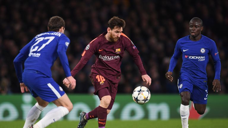 Barcelona drew 1-1 with Chelsea in the Champions League last 16 on Tuesday