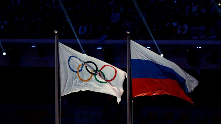 Russian athletes were given the all-clear immediately after the Winter Olympics