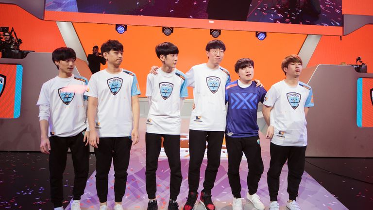 The victorious London Spitfire line-up (credit: Robert Paul for Blizzard Entertainment)