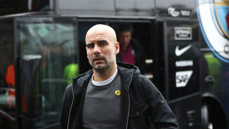 Gary Neville criticises Pep Guardiola for naming only six substitutes against Burnley