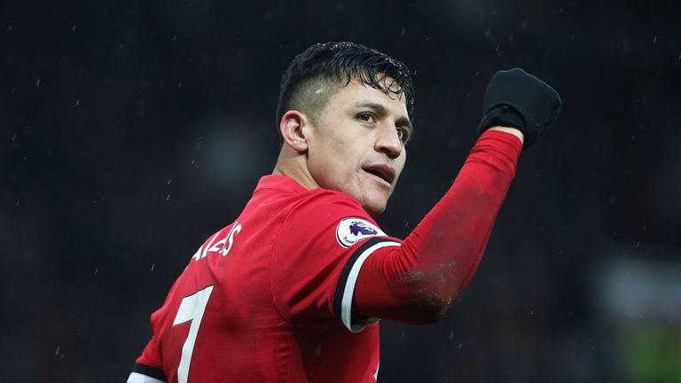 Alexis Sanchez joined United from Arsenal in January