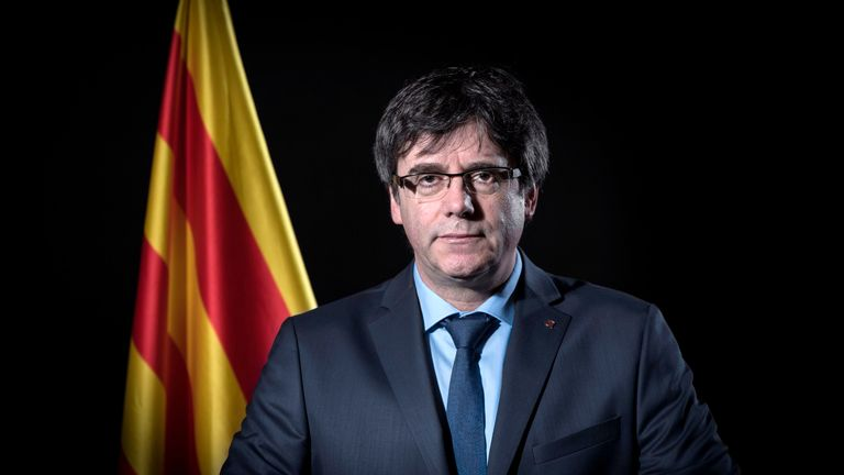 Authorities were reportedly on the look-out for exiled leader of Catalonia Carles Puigdemont.