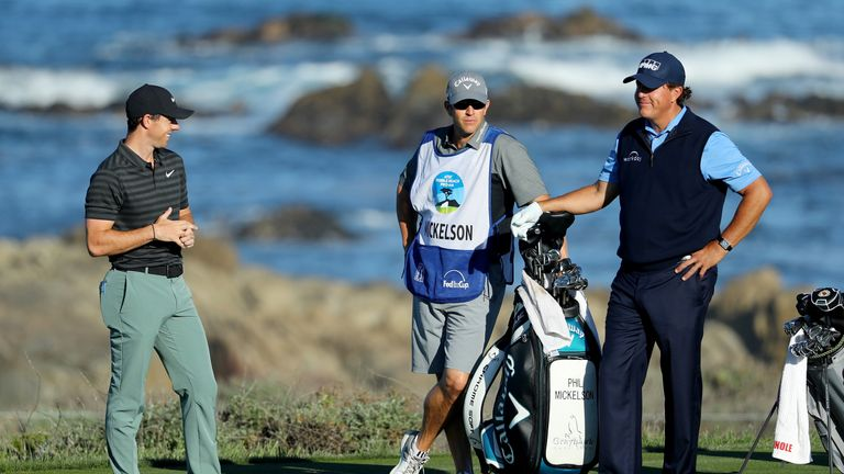 McIlroy has been playing alongside Phil Mickelson this week