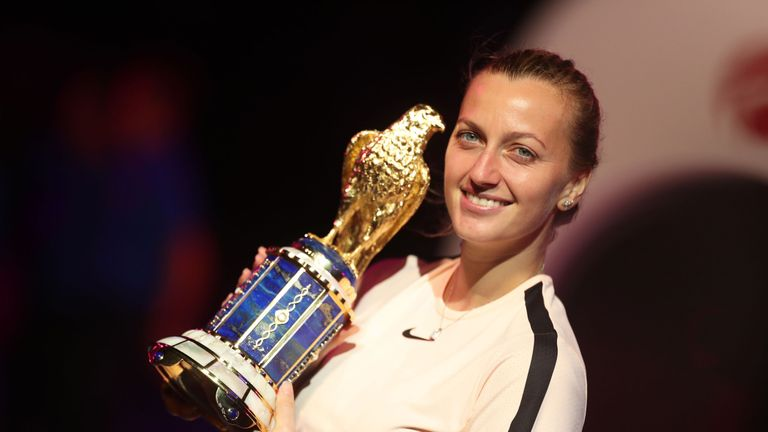 Kvitova downs Wozniacki for Qatar final