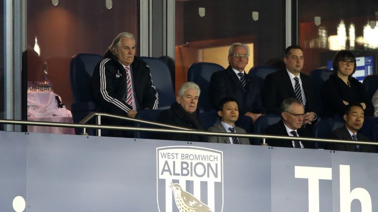 Former West Bromwich Albion chairman John Williams and club owner Guochuan Lai