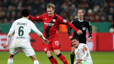 fifa live scores - WATCH: Reported Liverpool target Julian Brandt scores a stunner in the German Cup