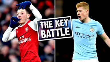 Mesut Ozil and Kevin De Bruyne go head to head at Wembley on Sunday
