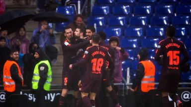 fifa live scores - Barcelona's Gerard Pique stands by Espanyol celebration