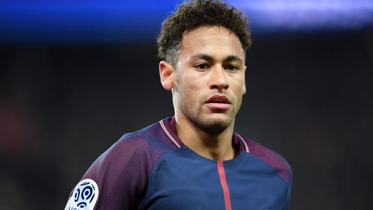 Paris Saint-Germain's Brazilian forward Neymar Jr looks on during the French Ligue 1 football match between Paris Saint-Germain (PSG) and Strasbourg at The