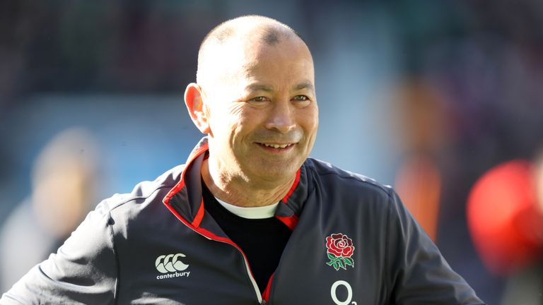 England coach Eddie Jones during a training session at Twickenham Stadium