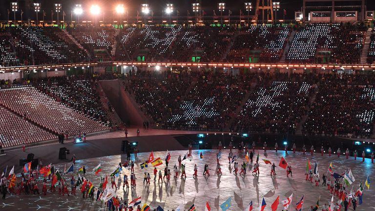 Winter Olympic Games at the Pyeongchang Stadium