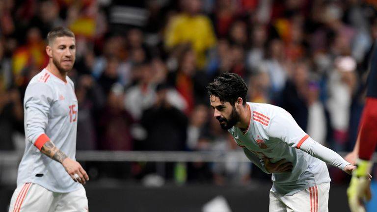 Isco scored a hat-trick for Spain