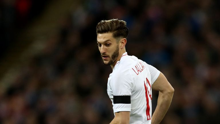 Adam Lallana is on England's World Cup standby list