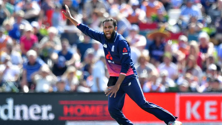 Adil Rashid was the only England bowler to bowl his full 10 overs in every game of the series