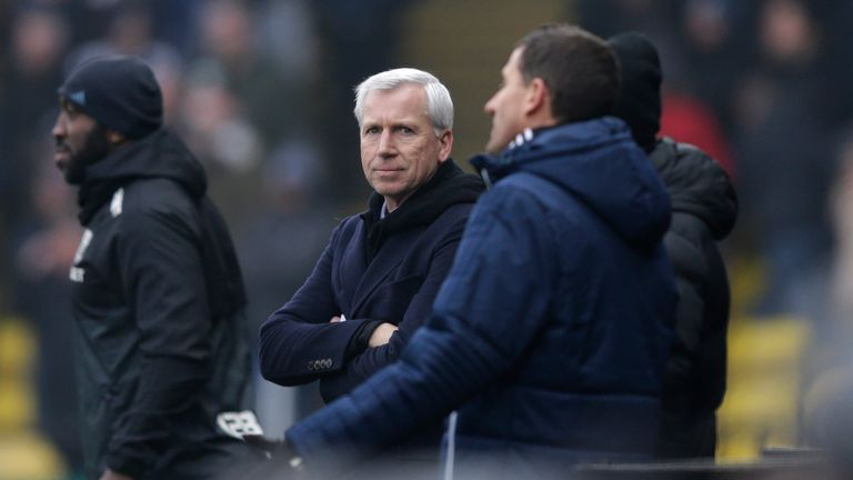 Alan Pardew during the Premier League match between Watford and West Bromwich Albion at Vicarage Road on March 3, 2018