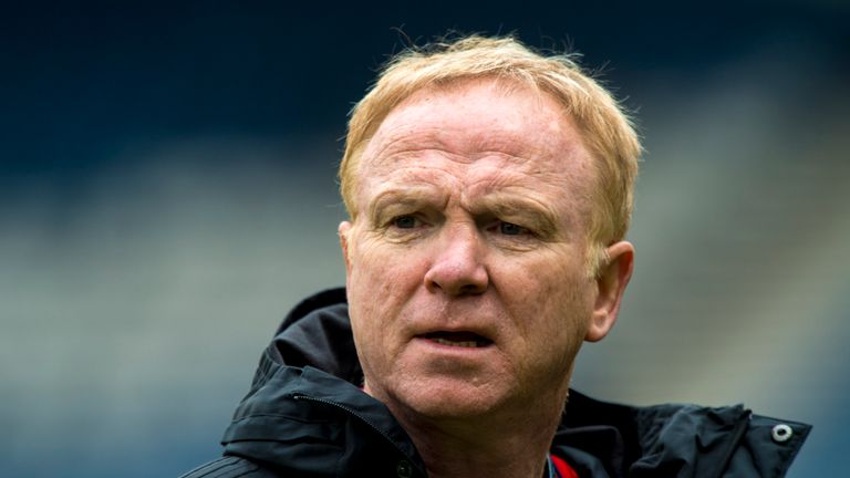 Alex McLeish's Scotland will face Portugal on October 14