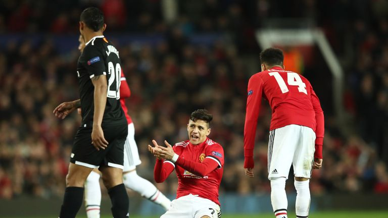 Sanchez has scored just once since arriving at Old Trafford