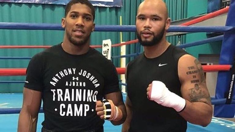 Joshua and Clarke train together in Sheffield