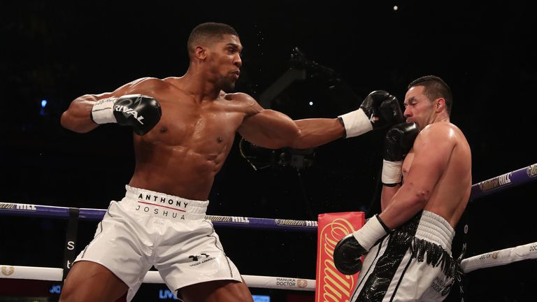 Anthony Joshua beat Parker by a unanimous decision in March