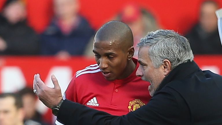 Ashley Young played the full 90 minutes in Man Utd's 2-1 win against Arsenal