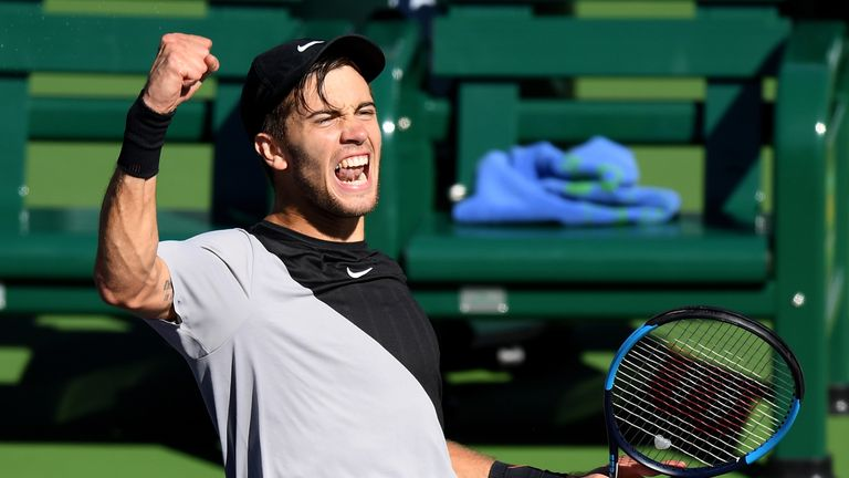 Borna Coric cause a major upset against Kevin Anderson in Indian Wells