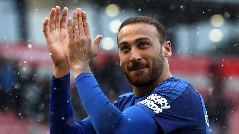 Turkey striker Cenk Tosun has shown signs of quality since Allardyce signed him from Besiktas in January
