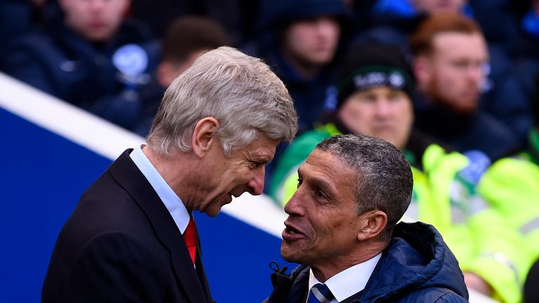 Brighton pile the pressure on Wenger as Arsenal lose again