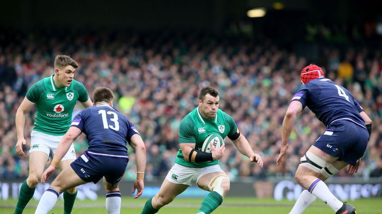 Cian Healy trained fully on Tuesday ahead of Ireland's bid for Grand Slam glory