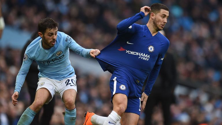 Eden Hazard's Chelsea suffered a 1-0 defeat to Man City last time out