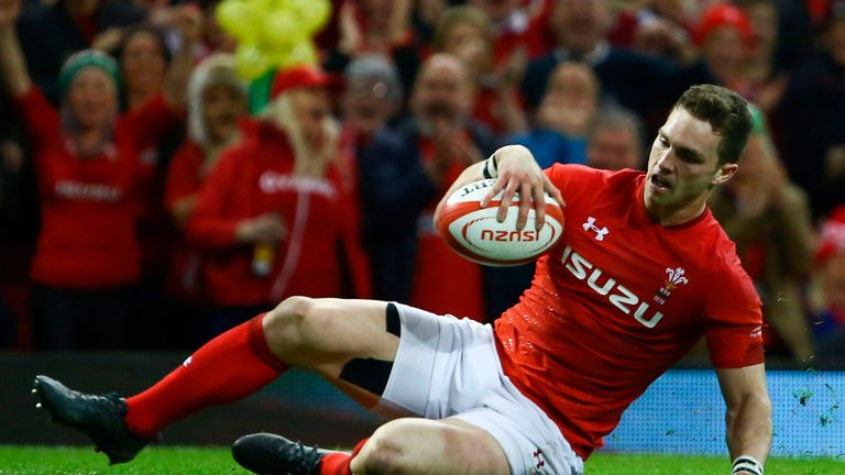 George North slid over for two tries in an eye-catching display