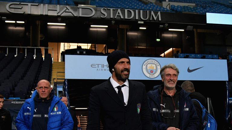 Buffon visited the Etihad Stadium on Thursday to soak up the atmosphere