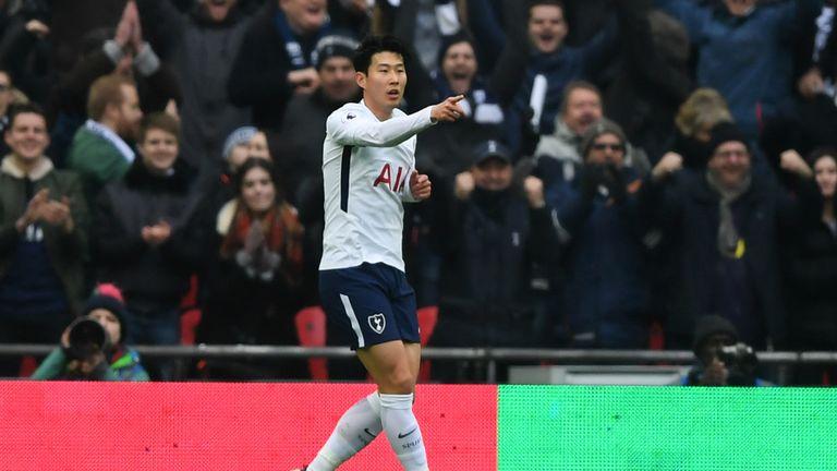 Son scored twice against Huddersfield