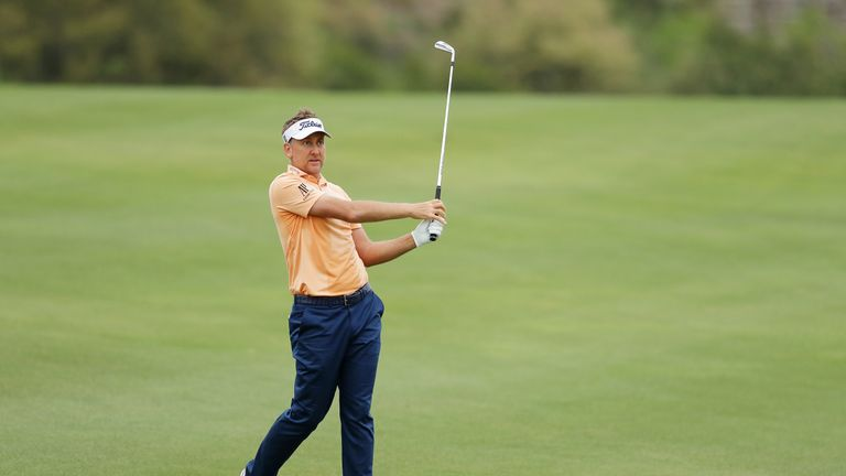 Poulter was five under for his round until he doubled the last
