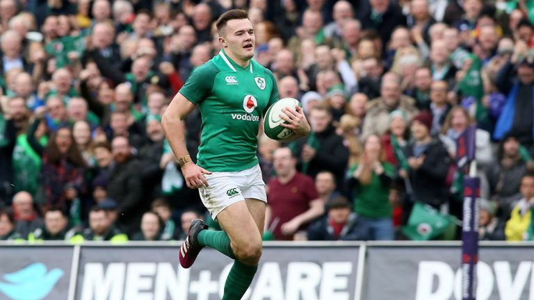 Stockdale scored twice against Scotland, becoming the first Irish player in history to score six tries in a Six Nations campaign