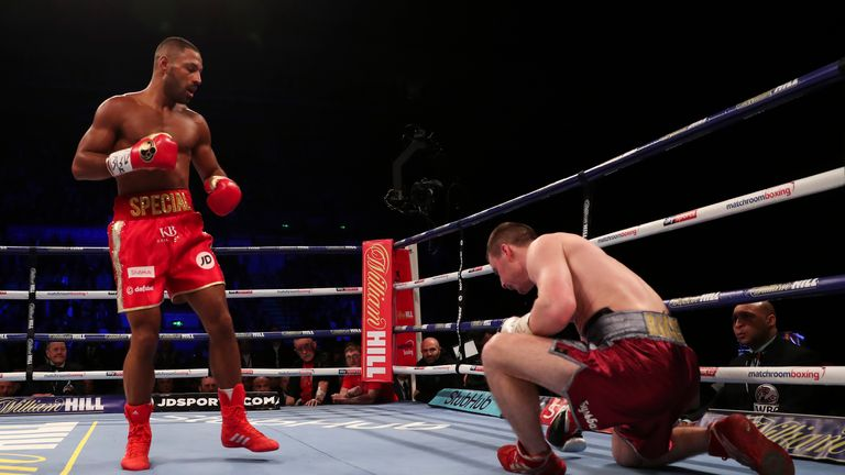 Brook floored Rabchenko with a big right hand